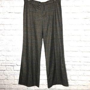 Zara Grey Plaid Wide Leg Trousers XL